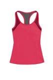 Gli sport rosa-rosso completano con racerback, isolato su fondo bianco Immagini Stock Libere da Diritti