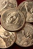 Gli Stati Uniti $1 moneta dorata Fotografia Stock