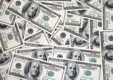 Gli Stati Uniti 100 fatture del dollaro Immagini Stock Libere da Diritti