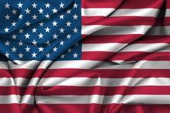 Gli Stati Uniti - bandiera americana Fotografia Stock