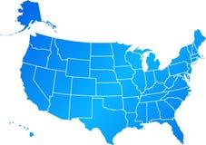 Gli Stati Uniti blu Immagine Stock