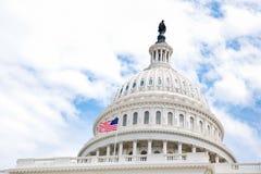 Gli Stati Uniti Campidoglio che costruisce cupola Immagini Stock