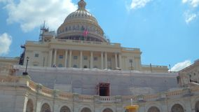 Gli Stati Uniti Campidoglio che costruisce Washington DC archivi video