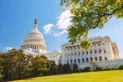 Gli Stati Uniti Campidoglio e Capitol Hill Immagini Stock