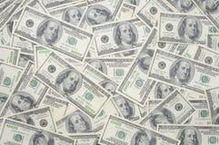 Gli Stati Uniti cento fatture del dollaro Fotografia Stock