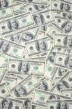 Gli Stati Uniti cento fatture del dollaro Immagine Stock