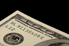Gli Stati Uniti cento macro del Bill del dollaro Fotografia Stock Libera da Diritti