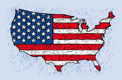 Gli Stati Uniti d'America Fotografie Stock Libere da Diritti