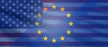 Gli Stati Uniti d'America ed Europa 3d-illustration royalty illustrazione gratis