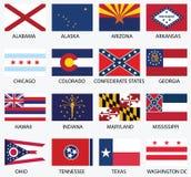 Gli Stati Uniti d'America indicano le bandiere Fotografia Stock Libera da Diritti