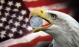 Gli Stati Uniti d'America - potere del dollaro Fotografia Stock Libera da Diritti
