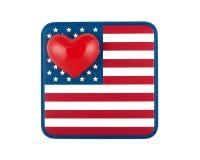 Gli Stati Uniti di amore Immagine Stock Libera da Diritti
