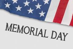 Gli Stati Uniti diminuiscono con testo del Giorno dei Caduti Immagine Stock Libera da Diritti