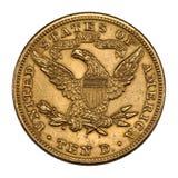 Gli Stati Uniti dorati 10 dollari Fotografie Stock Libere da Diritti