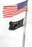 Gli Stati Uniti e BANDIERE di POW-MIA immagini stock