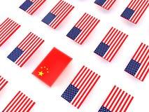 Gli Stati Uniti e guerra commerciale cinese fotografia stock