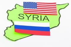 Gli Stati Uniti e guerra russa Fotografia Stock