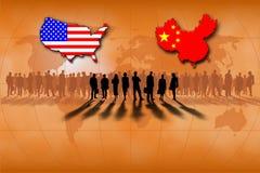 Gli Stati Uniti e la Cina Immagini Stock Libere da Diritti