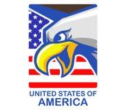 Gli Stati Uniti Eagle Badge calvo illustrazione vettoriale