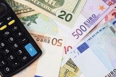 Gli Stati Uniti ed euro paia di valuta Fotografia Stock Libera da Diritti
