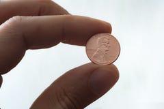 Gli Stati Uniti Lincoln Penny fotografia stock libera da diritti