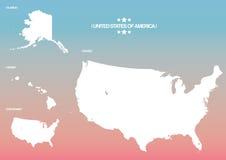Gli Stati Uniti mappano Fotografie Stock