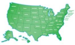 Gli Stati Uniti mappano Fotografie Stock Libere da Diritti