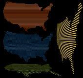 Gli Stati Uniti mappano l'insieme Fotografia Stock