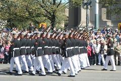 Gli Stati Uniti Marine Corp nella parata Immagine Stock Libera da Diritti