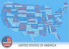 Gli Stati Uniti tracciano fatto delle parole royalty illustrazione gratis