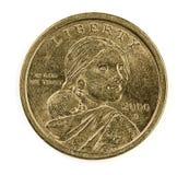Gli Stati Uniti una moneta del dollaro Fotografie Stock
