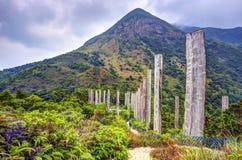 Percorso di saggezza sull'isola di Lantau, Hong Kong Fotografia Stock Libera da Diritti