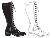 Gli stivali delle donne Fotografia Stock Libera da Diritti