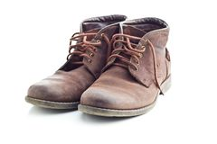 Gli stivali di cuoio fotografia stock