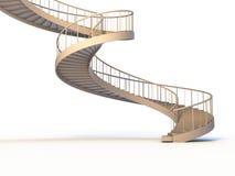 Gli strairs a spirale hanno isolato Immagini Stock