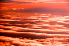 Gli strati della nube nel tramonto Fotografia Stock Libera da Diritti