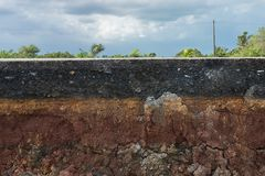 Gli strati della strada Fotografie Stock Libere da Diritti