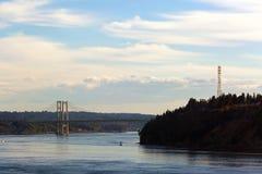 Gli stretti gettano un ponte su dalla sfida del punto nello stato U.S.A. di WA fotografia stock libera da diritti