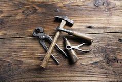 Gli strumenti del carpentiere immagine stock
