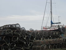 Gli strumenti del pescatore Fotografia Stock Libera da Diritti
