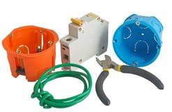 Gli strumenti dell'elettricista Fotografia Stock Libera da Diritti