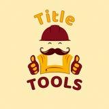 Gli strumenti simbolizzano, logo per la piccola impresa del tuttofare, modello di vettore Immagine Stock Libera da Diritti