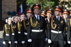 Gli studenti del corpo del cadetto di Mosca della polizia Immagine Stock Libera da Diritti