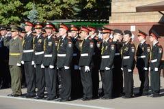 Gli studenti del corpo del cadetto di Mosca della polizia Fotografia Stock Libera da Diritti