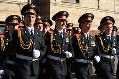Gli studenti del corpo del cadetto di Mosca della polizia Immagini Stock Libere da Diritti