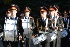 Gli studenti del corpo del cadetto di Mosca della polizia Fotografia Stock
