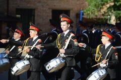 Gli studenti del corpo del cadetto di Mosca della polizia Immagine Stock