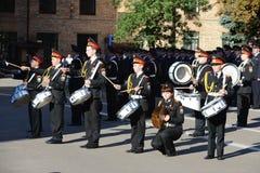 Gli studenti del corpo del cadetto di Mosca della polizia Immagini Stock