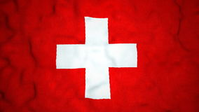 Gli svizzeri inbandierano il video ciclo senza cuciture royalty illustrazione gratis