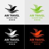 Gli uccelli pilotano Logo Template Fotografia Stock